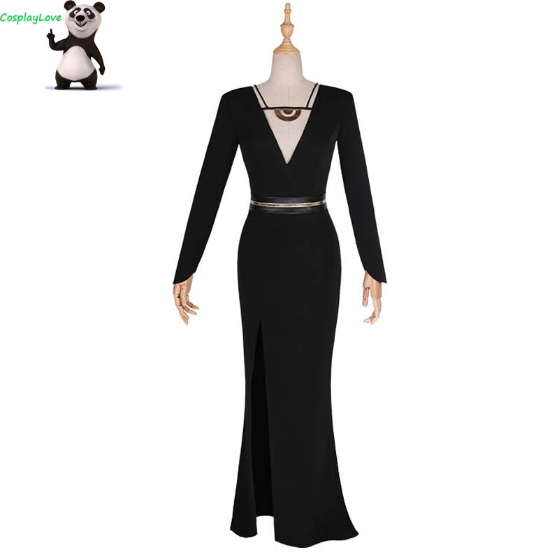 2018 Star Wars Cosplay Solo:Star Wars Story Qi'ra Cosplay Costume Emilia Clarke Black Sexy Evening Dress For Women CosplayLove