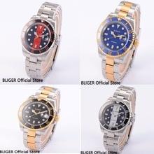 BLIGER 40 MILÍMETROS Sapphire Dial Cerâmica Moldura De Vidro Multicolor Miyota Movment Relógio dos homens Top Marca De Luxo Mens Relógio Automático b6