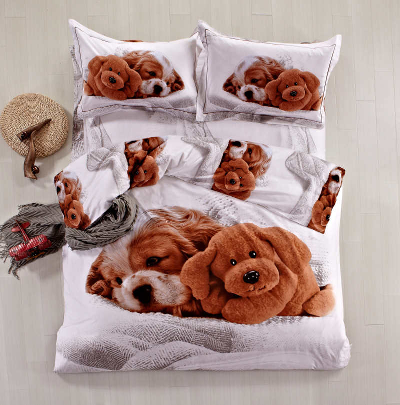 High Quality 100 Cotton 3d Animal Dog Cavalier King