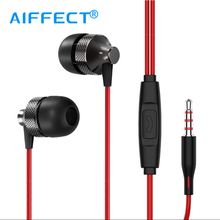 AIFFECT In-Ear Earphones Music Earbuds Stereo Sport Earphones With Microphone for xiaomi iPhone Samsung Wired Gaming Earphone. brand colorful zipper earphones 3 5mm in ear earphone with microphone for iphone for samsung pink blue black white purple