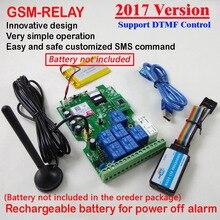 2017 neue RELAY 1 stücke Sieben ausgang gsm relais-sms fernbedienung Wiederaufladbare batterie für die abschaltung alarm app
