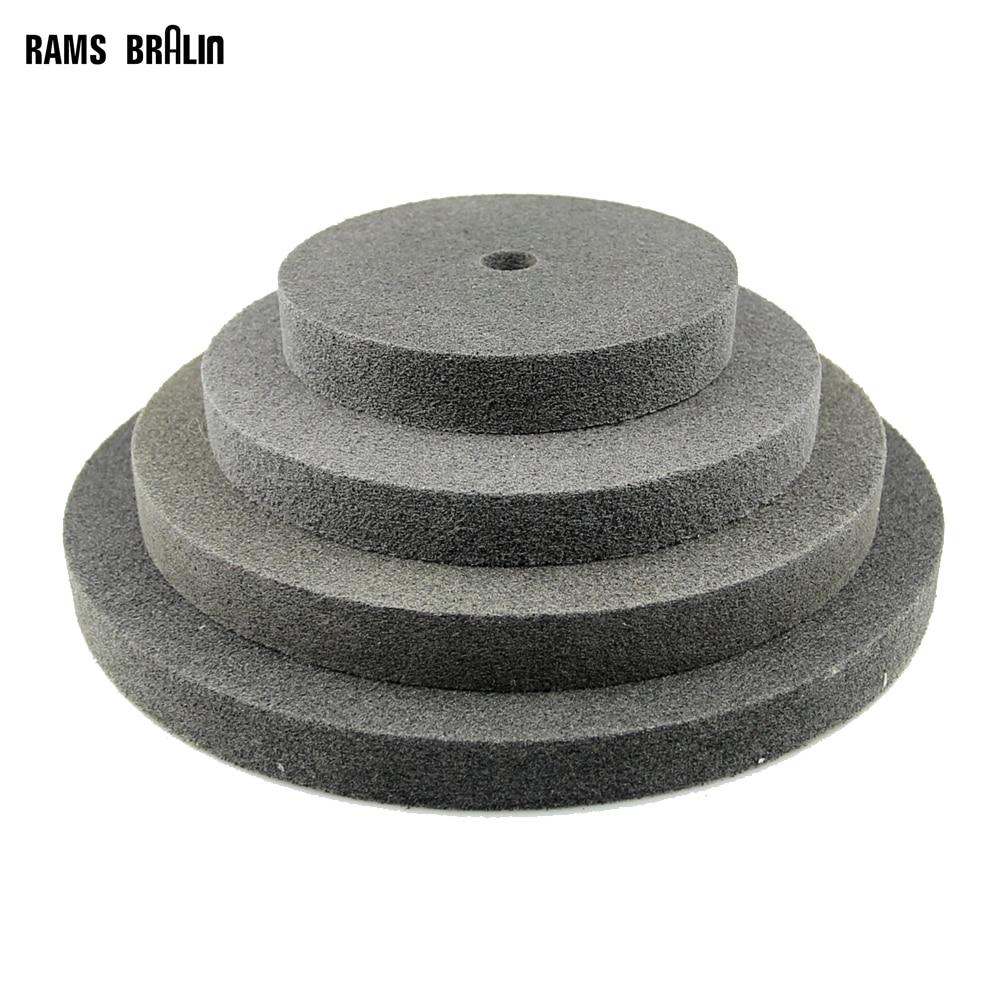 1 Pieces 150/200/250/300 * 25mm Thickness Nylon Fiber Polishing Wheel Non-woven Unitized Wheel 7P 180#
