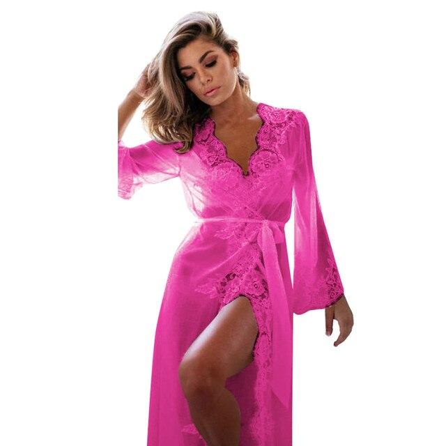 59efac554c Women Lingerie Babydoll Sleepwear Underwear Lace Coat Nightwear +G-string  Fantasias Sexy Erotic Lenceria Femenina gb2
