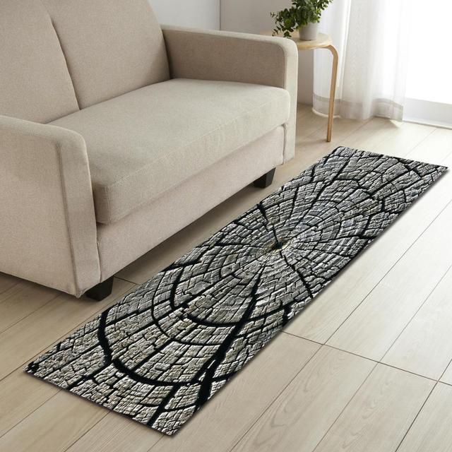 Alfombra de sala estar creativa con estampado Multicolor para decoración  dormitorio alfombra comedor área grande cocina suelo antideslizante mat