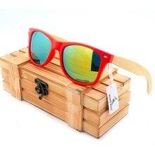 Бобо птица CG003 модные унисекс Солнцезащитные очки красочный поляризованные линзы и красный пластиковый и бамбука Рамки Очки с деревянной коробке Óculos