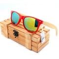 BOBOBIRD Design Da Marca Unissex Óculos De Sol Colorido Lentes Polarizadas E Lentes de Plástico & Armação De Bambu Óculos de Sol Com Caixa de óculos de Madeira 2017