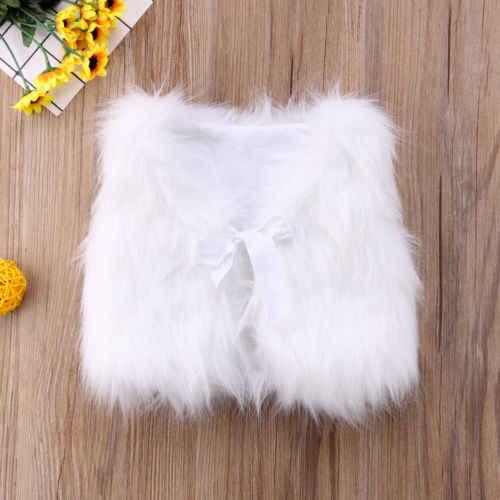 2018 Модные жилеты из искусственного меха для девочек верхняя одежда для маленьких девочек зимняя теплая блуза с талией безрукавка жилет пальто