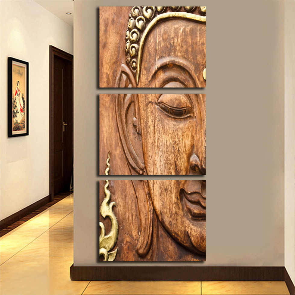 No frame golden buddha painting picture living room wall decor modern home decoration print painting on canvas wall art fa255