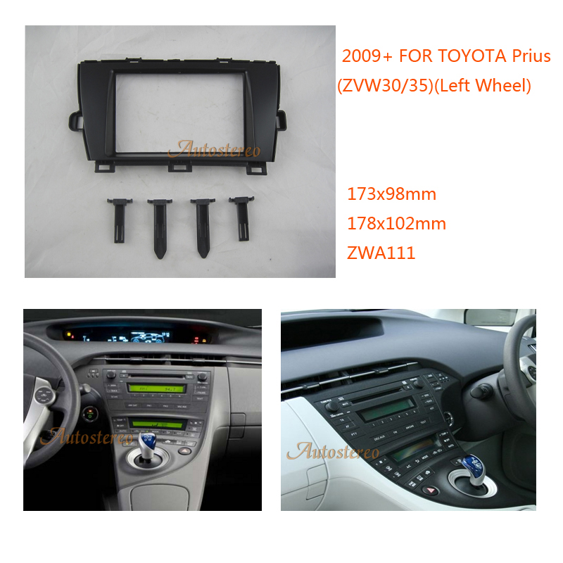 US $34 3 12% OFF|Car Radio Fitting Kit installation fascia for TOYOTA Prius  2009 2012 Left Wheel-in Fascias from Automobiles & Motorcycles on