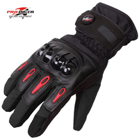 PRO RIDING Motorcycle Gloves Touch Screen Winter Warm Waterproof Windproof Protective Glove Guantes Moto Luvas Racing