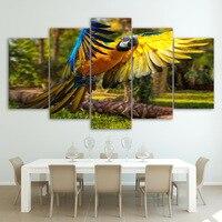 HD Baskılı derevya popugay polet papağan kanatları Boyama Tuval Baskı odası dekor baskı posteri resim tuval