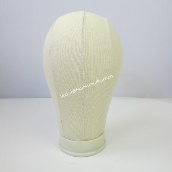 (Off-white, branco, preto) HARMONIA 21 inch a 25 inch 10 peças cabeça bloco Tela de exibição para a tomada de peruca com poliuretano no interior
