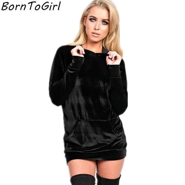 Robe courte velour noir