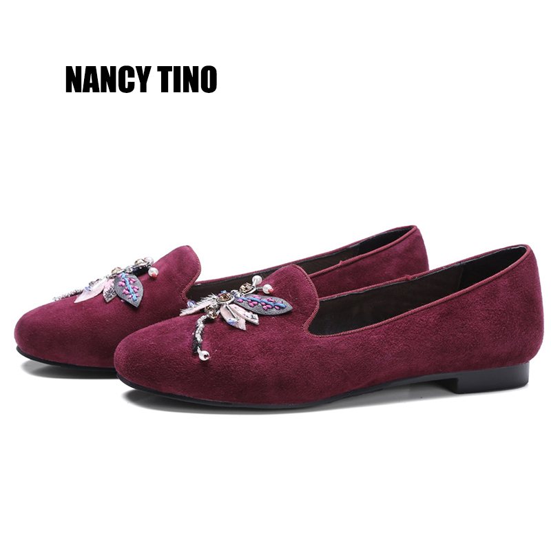 NANCY TINO 2017 Summer Fashion Woman Flats Shoes Genuine Leather Animal motifs  Non-slip Comfortable Shallow Women's Shoes nancy кукла нэнси в голубой юбке плетение косичек nancy