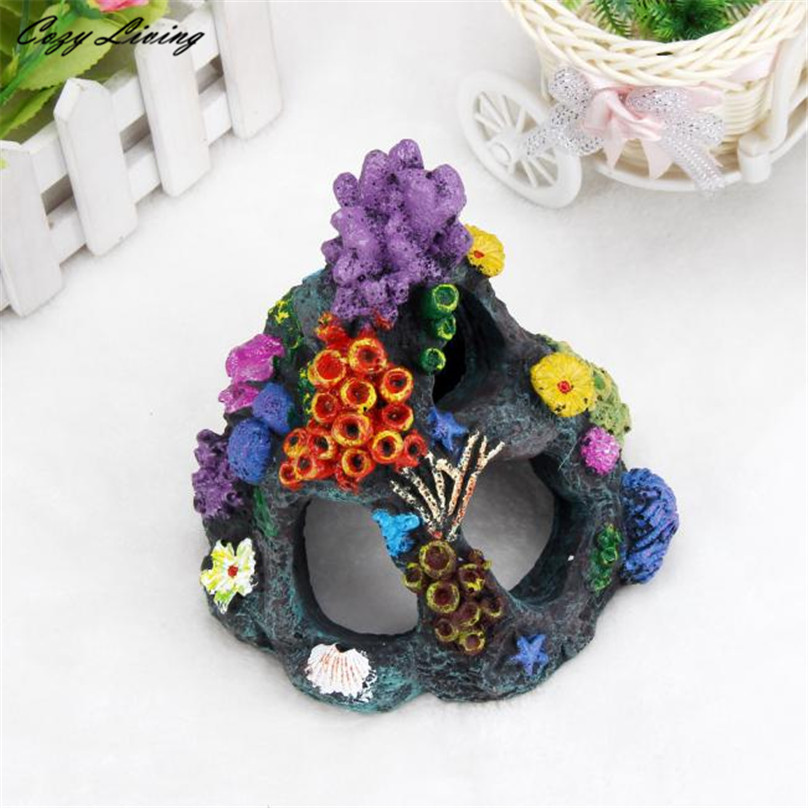 161313cm fish tank aquarium multi color underwater world castle decoration fish tank tower micro landscape ornament d6 in decorations from home garden