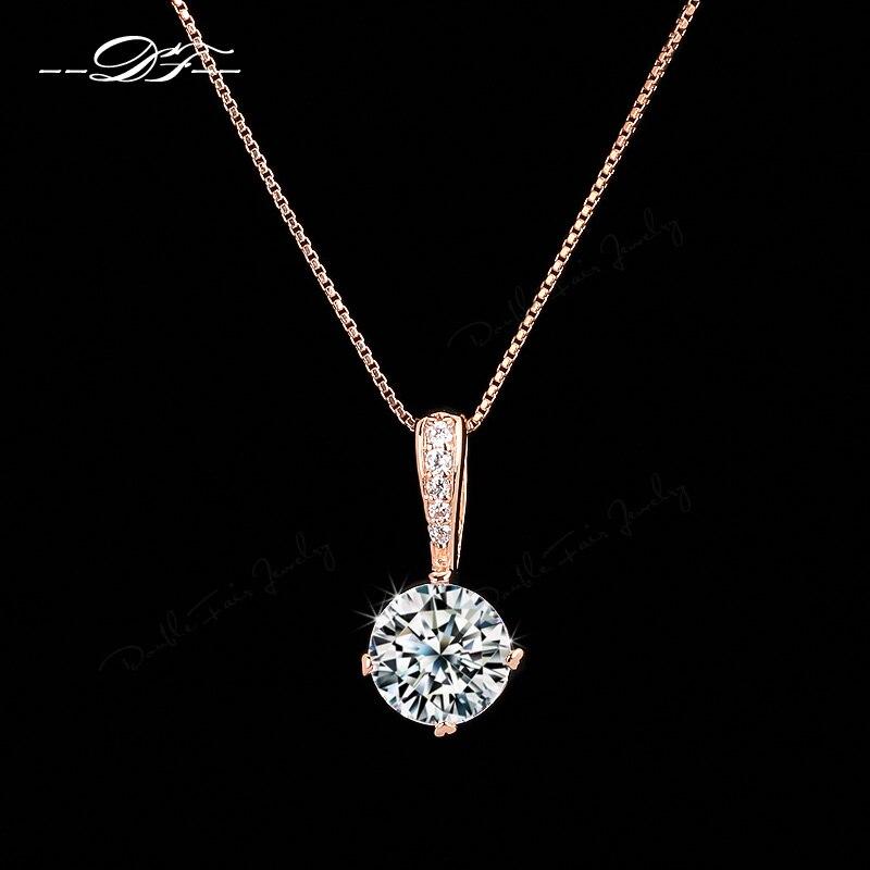 Double Fair OL Style Cubic Zirconia Chain Necklaces & Pendans