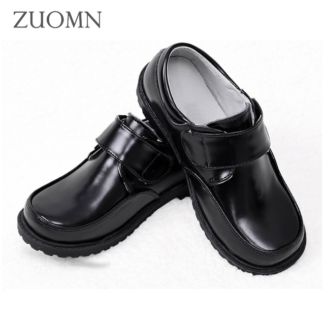 Boys Leather Shoes Child Black Shoes Children Cowhide Footwear Formal Single Shoes Student Casual Shoes GH331