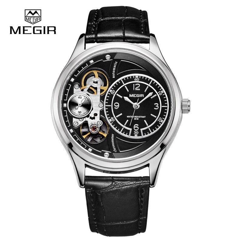 MEGIR hot marque étanche montre à quartz homme mode bracelet en cuir montres décontracté mâle masculino relojes montre heure 2018