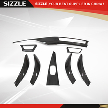 For BMW F30 F31 F36 interior trims F32 M4 trims dash board trim cover for bmw f30 carbon fiber car styling 2013-ON LHD only