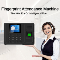 OULET Biometric Time Attendance System TCP/IP USB Time Clock Recorder Employees Device Fingerprint Time Attendance Machine