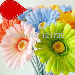 free shipping 50cm fabric Artificial Simulation Silk Gerbera Daisy Flowers home Decorations