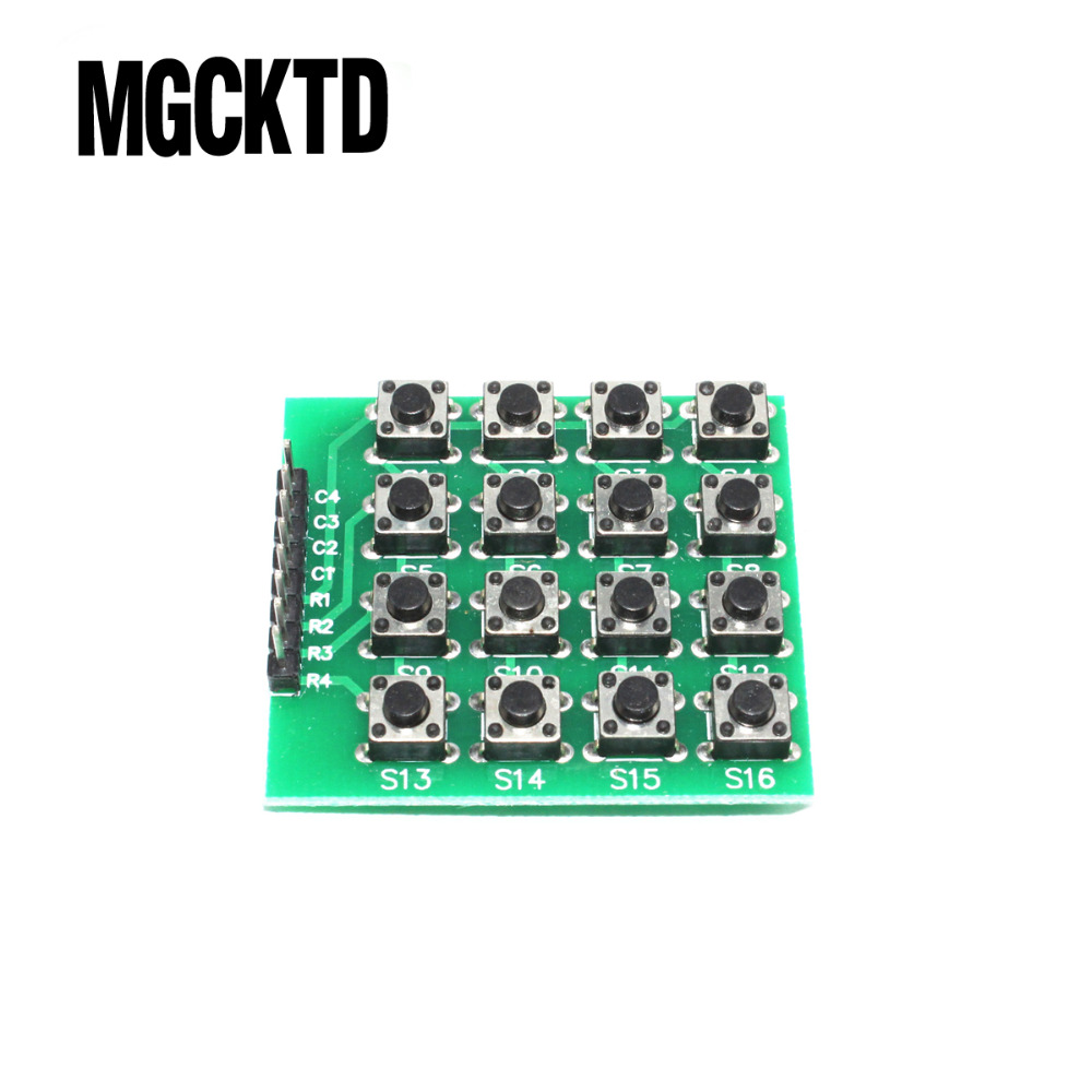5pcs/lot MCU Extension 4 x 4 16-Key Matrix Keyboard Module for Ar duino 4*4 matrix keyboard