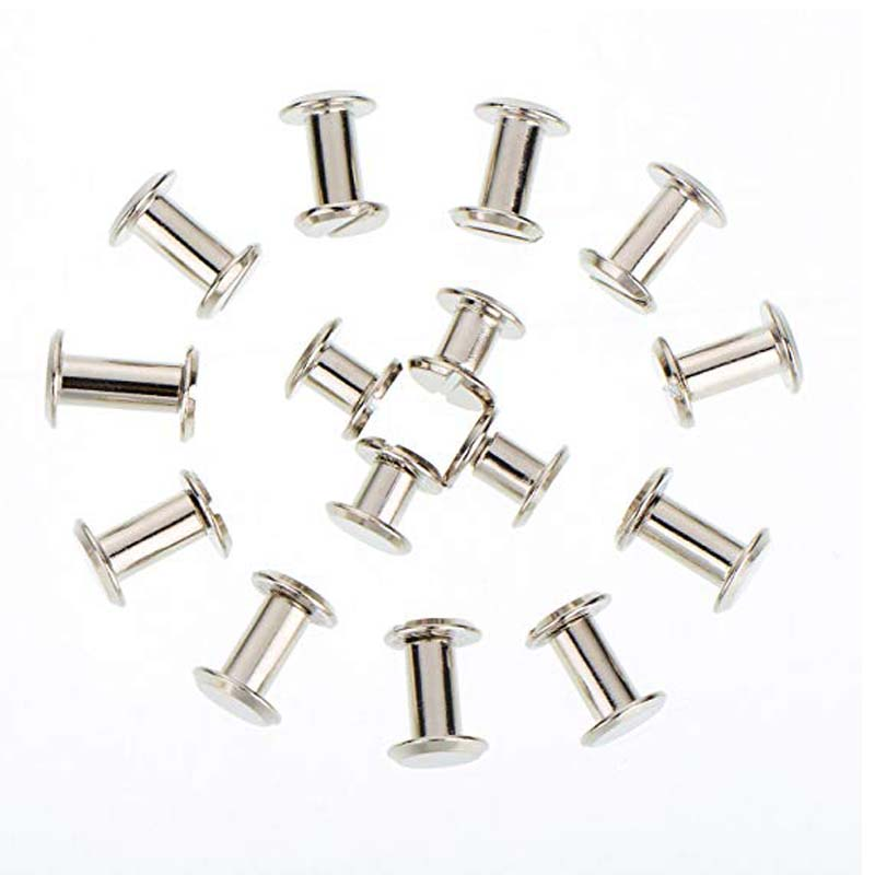100Pcs Silver Chicago Screws Metal Screw Posts Nail Rivet Chicago Button for Chicago Screws Crafts Photo Album Accessories 6