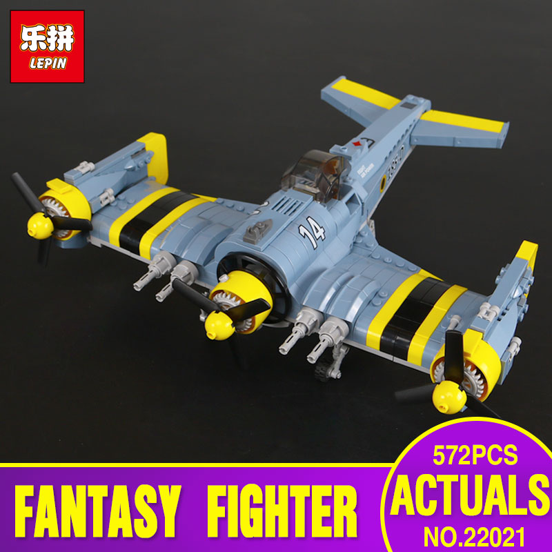 Lepin 22021 Technical Series The Beautiful Science Fiction Fighting Aircraft Set 572Pcs Building Blocks Bricks Toys Model Gift the great science fiction