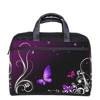 Фиолетовая бабочка настраиваемый компьютер сумка для ноутбука кошелек 13