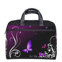 Purple Butterfly Customizable Computer Bag Laptop Bag Purse 13 13 3 15 15 6 17 For