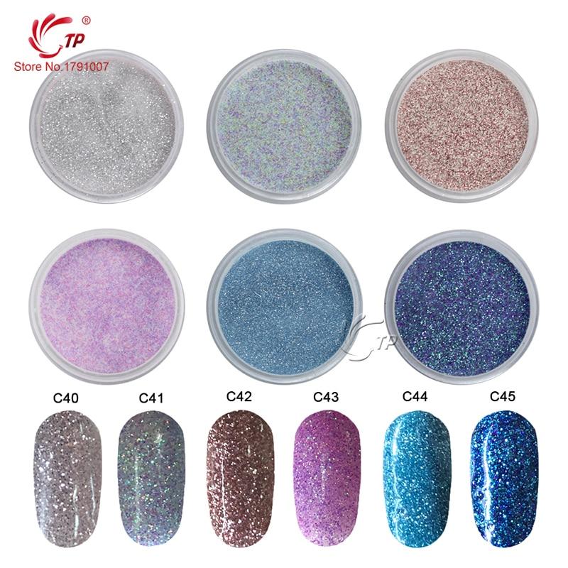 TP 28g/Box Glitter Dipping Powder Without Lamp Cure Nails Dip Powder Gel Nail Powder Natural Air Dry For Nail Salon