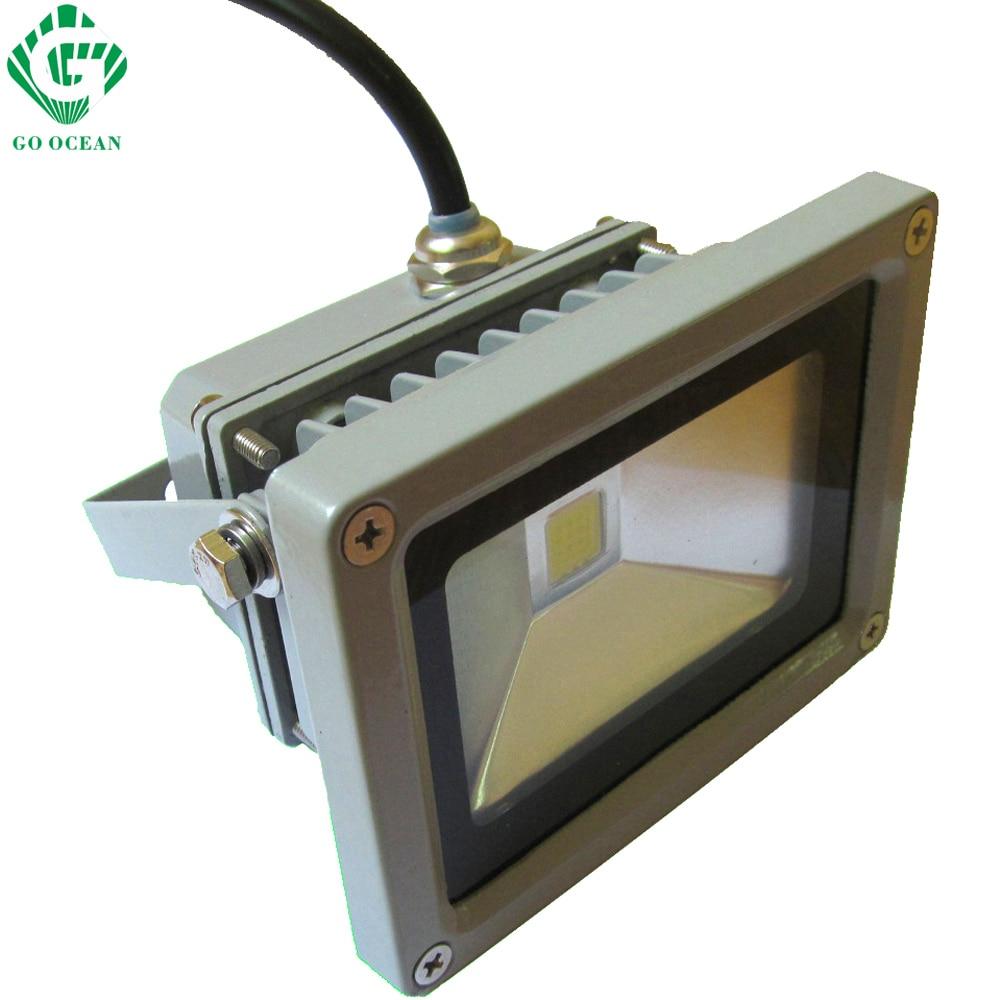 GO OCEAN Floodlights LED Flood Light 10W 85-265VAC Waterproof Aquarium Wall Floodlight Outdoor Flood Light LED Reflector