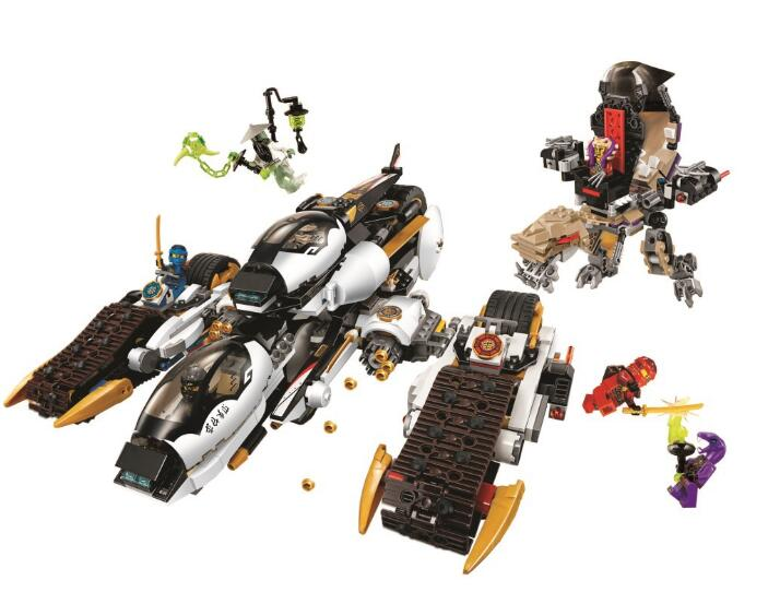 WAZ Compatible Legoe Ninjagoes 70595 Bela 10529 1135pcs Ninjago Ultra Stealth Raider Figure building blocks toys for children 0367 sluban 678pcs city series international airport model building blocks enlighten figure toys for children compatible legoe