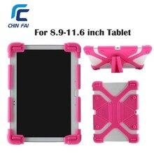 Universal Funda de Silicona Para 9 10 11 Cubierta de La Tableta de 11.6 Pulgadas para iPad Pro Aire Samsung Huawei Kindle Caso Suave A Prueba de Golpes con soporte