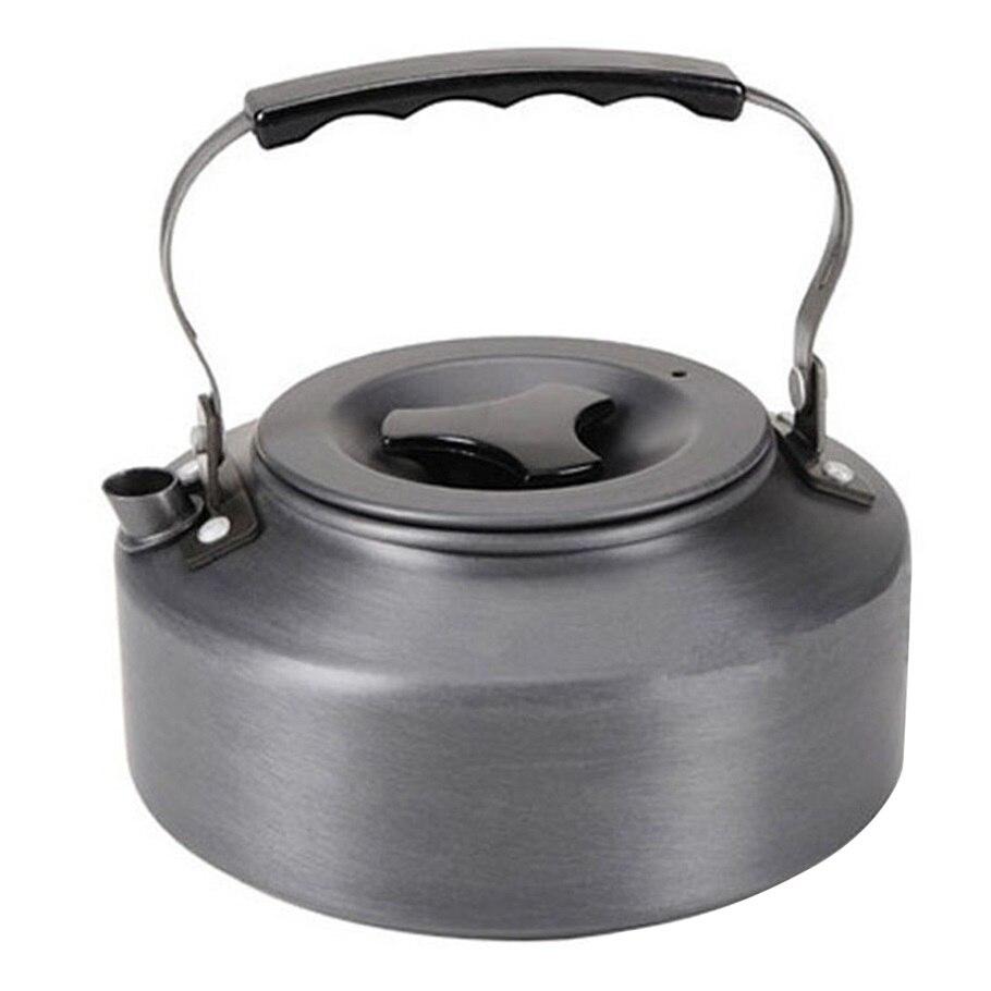 1.1l Picknick Camping Kochgeschirr Wasserkocher Teekanne Wasser Kaffee Topf Aluminium Outdoor Picknick Kochen Tool Leichte Wandern Ausrüstung
