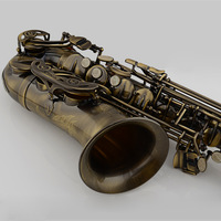 Free Shipping Professional Alto Saxophone E Flat Antique Copper Simulation Alto Sax High Quality Bakelite Mouthpiece