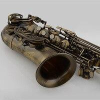 Free Shipping Professional Alto Saxophone E Flat Antique Copper Simulation Alto Sax High Quality Bakelite Mouthpiece