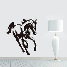 Horse Running Vinyl Wall Sticker Removable Waterproof Animal Wall Decal Home Decor Funny Horse Stickers