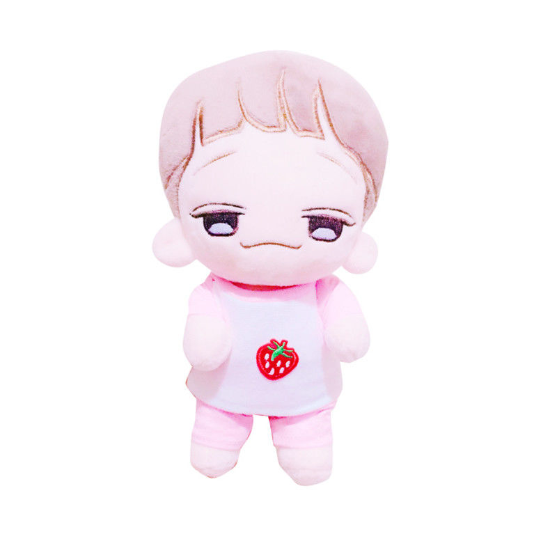 SGDOLL Kpop EXO Strawberry Pink T-shirt Pants Clothes Handmade Not Included Plush 20cm (1pc of t-shirt + pants) t shirt and pants
