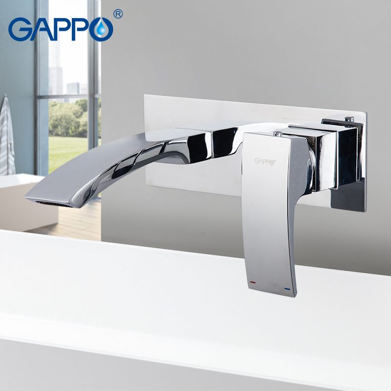 Gappo Wall  Mounted Bathroom Basin Faucet  Waterfall Bathroom Faucet Vanity Vessel Sinks Mixer Tap Cold And Hot Water Tap