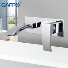цена на Gappo Wall  Mounted bathroom basin faucet  Waterfall Bathroom Faucet Vanity Vessel Sinks Mixer Tap Cold And Hot Water Tap