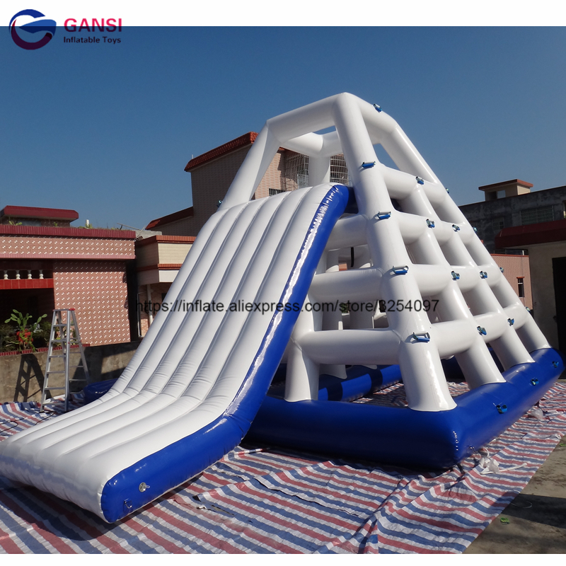 Factory Price 5.5*3.6*3.6m giant inflatable water park game funnny water slide toys,inflatable water slide clearance for adults custom inflatable water park giant inflatable floating slide inflatable aqua slide for kids and adults