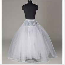 2018 New Petticoat Long Tulle Skirts  Three Layers Womens  Underskirt For Wedding Dress White/Black