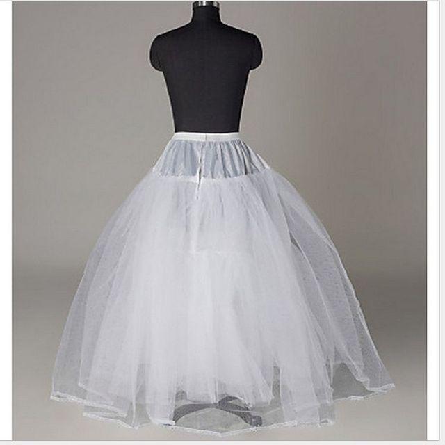 2018 New Petticoat Long Tulle Skirts  Three Layers Womens  Underskirt For Wedding Dress White/Black