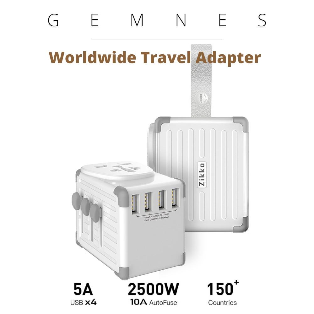Worldwide Travel Smart Adapter Universal Universal Multi Socket 25W 4 Port USB Charger EU US UK AU Plug