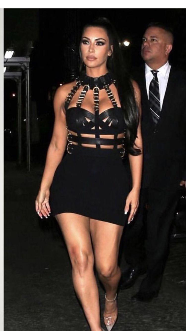 Image 3 - Women Luxury Sexy Eyelet Cut Out Black Bandage Dress 2018 Knitted Elastic Party DressDresses