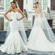 backless Mermaid Wedding Dresses Bride Dress Court Train