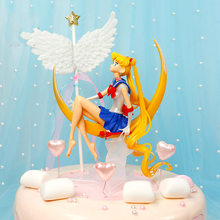 15 cm Sailor Moon Tsukino Usagi PVC Action Figure figura sailor moon Cake Decoração Supplie(China)