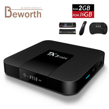 TX3 Mini Android 7.1 Smart TV Box 2GB 16GB Amlogic S905W Quad Core Mini PC 2.4G Wifi 4K Streaming Media Player 2G16G KODI 17.3