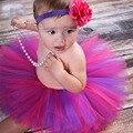 Super Dulce de Color Rosa y Marfil Precioso Tutú y Diadema De Flores Set Fotografía Atrezzo Bebé Recién Nacido Niñas Tutu Falda TS028